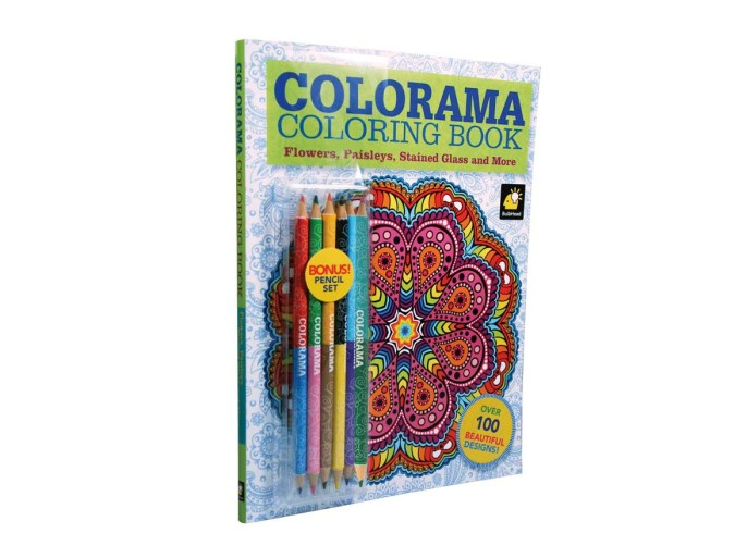 Colorama con lápices de color